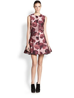 Giambattista Valli - Silk Rose-Print Dress