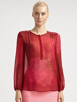 Giambattista Valli - Floral Silk Blouse