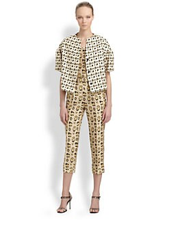 Giambattista Valli - Silk Shantung Leopard Print Jacket