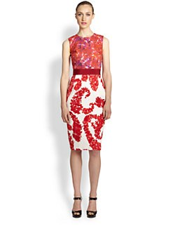 Giambattista Valli - Mixed Media Floral Dress