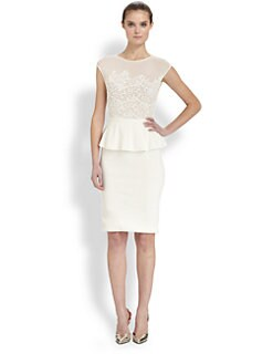 Giambattista Valli - Lace Peplum Dress