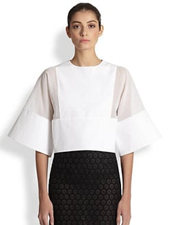 Giambattista Valli - Boxy Silk Shirt
