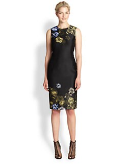 Giambattista Valli - Silk & Wool Floral-Print Dress