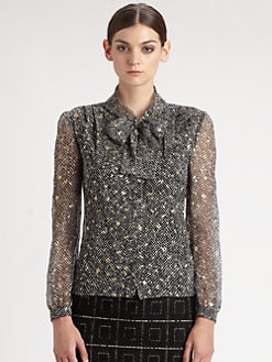 Giambattista Valli - Silk Tweed-Print Blouse