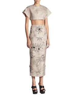 Giambattista Valli - Cropped Silk Top
