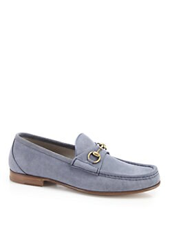 Gucci - Roos Suede Horsebit Loafer