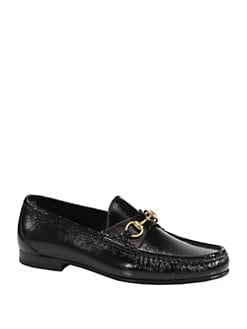Gucci - Roos Patent Leather Horsebit Loafer