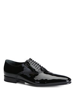 Gucci - Kir Patent Leather Lace-Ups