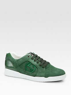 Gucci - Rebound Suede Lace-Up Sneakers