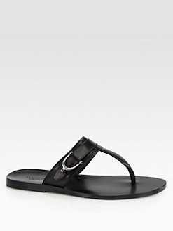 Gucci - Karel Leather Thong Sandal