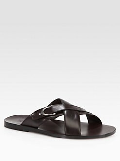 Gucci - Karel Leather Sandal