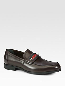 Gucci - Legi Leather Moccasin