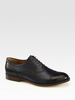 Gucci - Leather Brogue Lace-Up