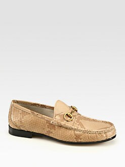 Gucci - Natural Python Horsebit Loafer