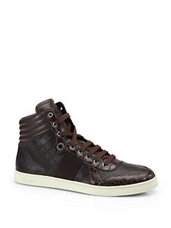 Gucci - Crocodile High-Top Sneakers