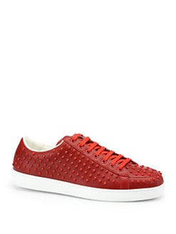 Gucci - Brooklyn Studded Lace-Up Sneakers