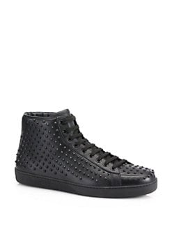 Gucci - Brooklyn Studded High-Top Sneakers