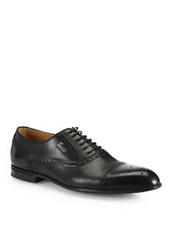 Gucci - Chiaia Brogue Lace-Ups