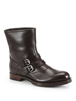 Gucci - Apollo Leather Buckle Boot