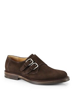 Gucci - Ragona Suede Monk Strap