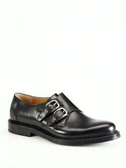 Gucci - Ragona Leather Monk Strap