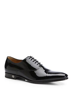 Gucci - Ker Patent Leather Lace-Ups
