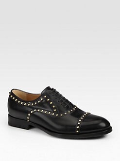 Gucci - Benoist Studded Lace-Up Oxford