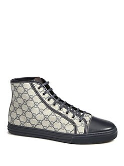 Gucci - California High-Top Lace-Up Sneakers