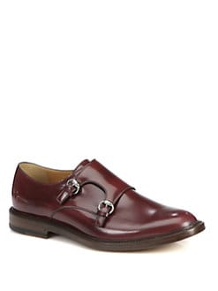 Gucci - Cezanne Leather Monk Strap