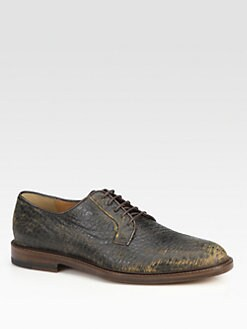 Gucci - Cezanne Leather Lace-Up Derby