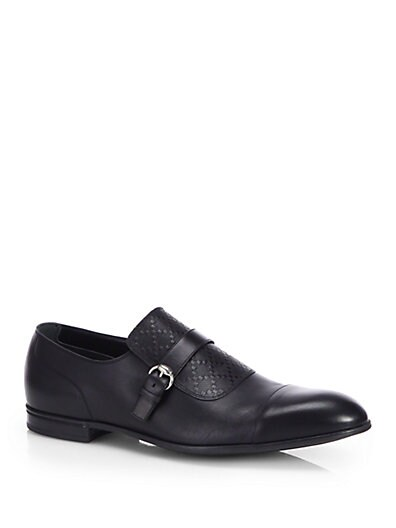 Tillman Diamante Leather Monkstrap Shoes