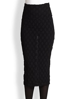 Jean Paul Gaultier - Dotted Tulle Pencil Skirt