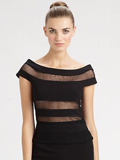 Jean Paul Gaultier - Sheer Stripe Top