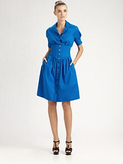 Jean Paul Gaultier - Corseted Shirtdress