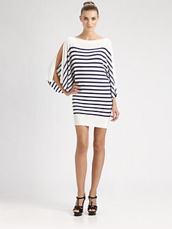 Jean Paul Gaultier - Striped Split-Sleeve Dress