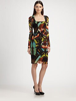 Jean Paul Gaultier - Butterfly-Print Stretch Jersey Dress