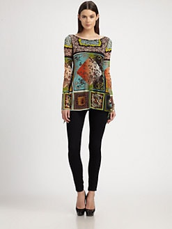 Jean Paul Gaultier - Scarf-Print Top