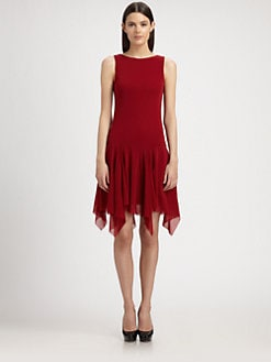 Jean Paul Gaultier - Handkerchief-Hem Knit Dress