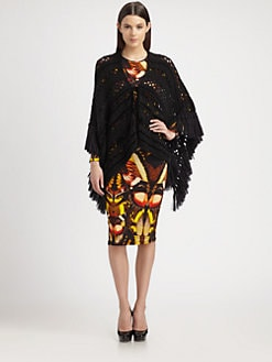 Jean Paul Gaultier - Fringed Open-Crocheted Poncho