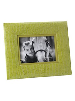 Reed & Barton - Faux Crocodile Granny Smith Green Frame