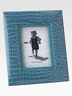 Reed & Barton - Faux Crocodile Cool Blue Frame