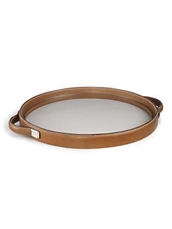 Ralph Lauren Home - Saddle Leather Henley Round Tray