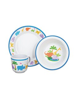 Reed & Barton - Jungle Parade 3-Pc. Baby Dinnerware Set
