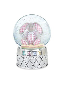 Reed & Barton - Gingham Bunny Waterglobe