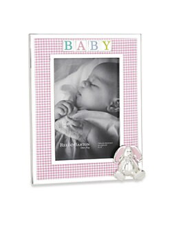 Reed & Barton - 4 X 6 Gingham Bunny Picture Frame
