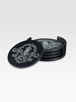 Ralph Lauren Home - Ayers Skull & Crossbones Coaster Set