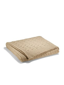 Ralph Lauren - Classic Cable Cashmere Throw