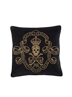 Ralph Lauren Home - Maddox Skull & Crossbones Pillow