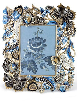 Jay Strongwater - Madison Flowers & Vines Photo Frame