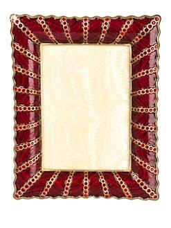 Jay Strongwater - Scalloped Edge Swarovski Crystal-Embellished Photo Frame